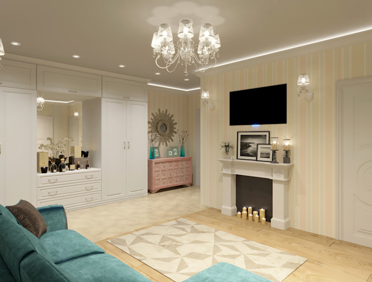 Klassische Wohnzimmer von Студия дизайна интерьера Маши Марченко Klassisch