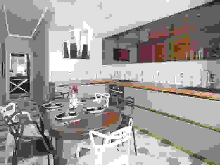Квартира в ЖК «Европейский», 67 кв.м.: Кухни в . Автор – Студия дизайна интерьера Маши Марченко, Модерн