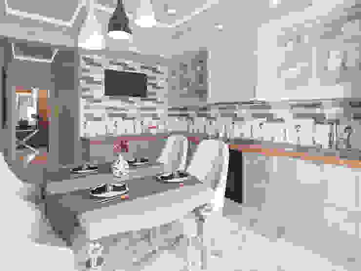 Nhà bếp phong cách hiện đại bởi Студия дизайна интерьера Маши Марченко Hiện đại