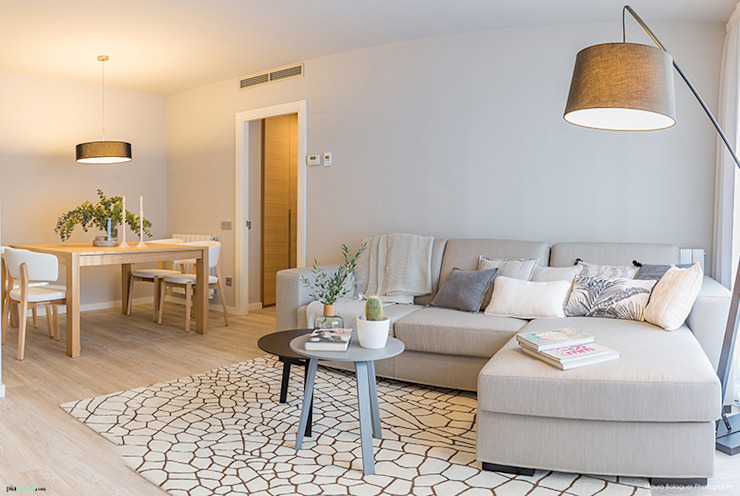 Scandinavian style living room by Pia Estudi Scandinavian