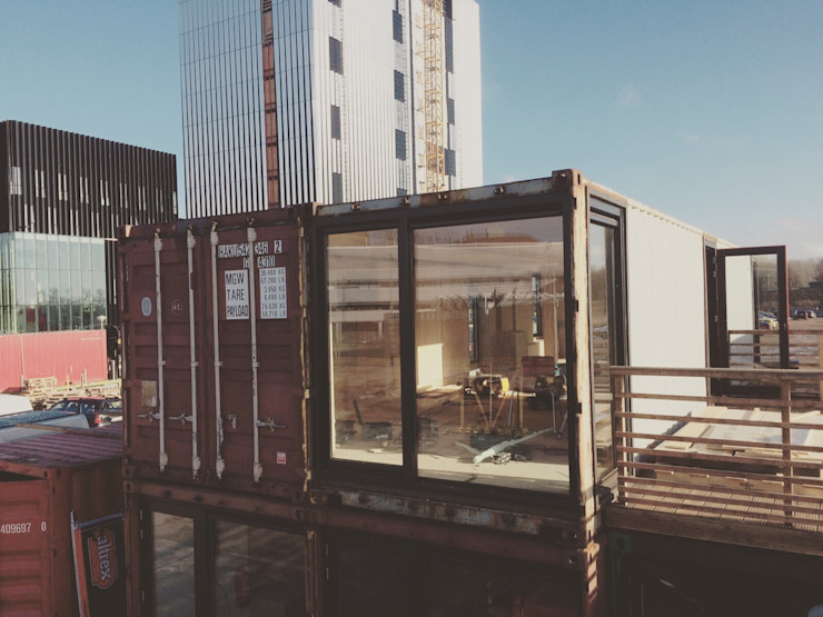 Innovation Lab Industriële kantoorgebouwen van Studio Mind Industrieel Hout Hout