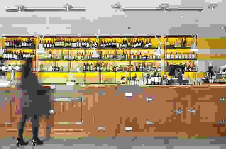 RISTORANTE MACELLO Modern Home Wine Cellar by NOS Design Modern