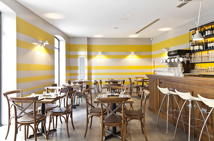 RISTORANTE MACELLO Modern Dining Room by NOS Design Modern