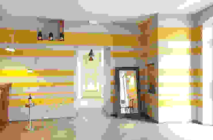 RISTORANTE MACELLO Modern Corridor, Hallway and Staircase by NOS Design Modern