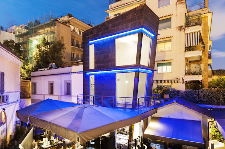 RISTORANTE MACELLO Industrial style houses by NOS Design Industrial Wood Wood effect