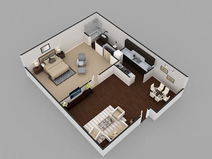 Floor Plan For 3D Luxurious Home by KCL-Solutions