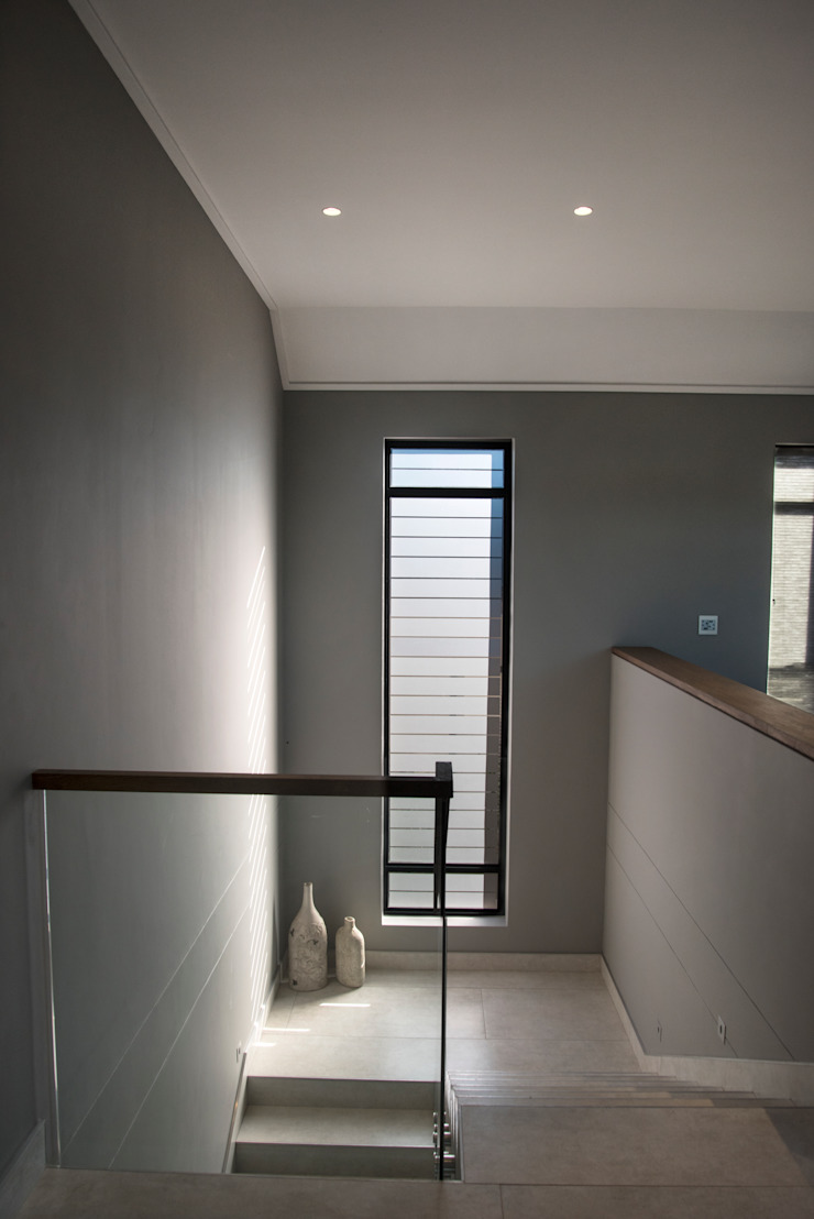 Staircase Tim Ziehl Architects Country style corridor, hallway& stairs Grey