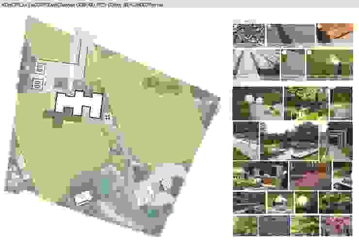 Giardino moderno di Architekton Przemyslaw Cepielik Moderno