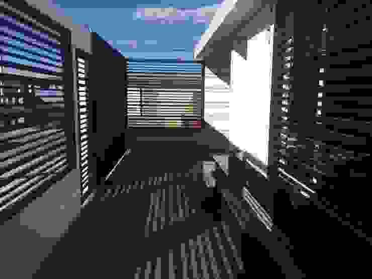 ESPACIOS EXTERNOS Casas modernas de Arq. Alberto Quero Moderno Concreto