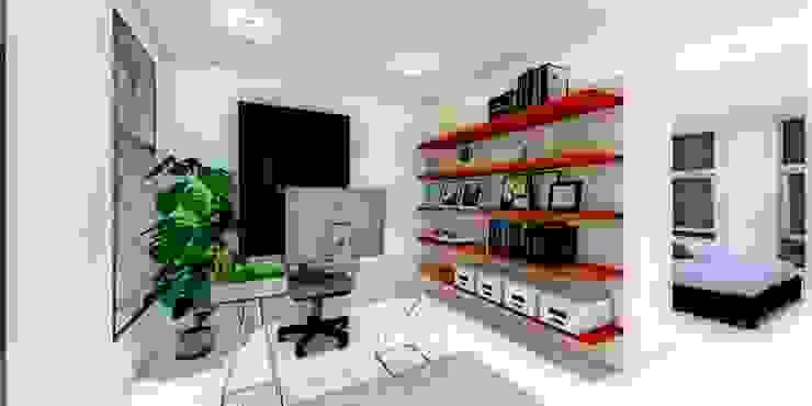 ESTUDIO Estudios y despachos minimalistas de WIGO SC Minimalista Cerámico
