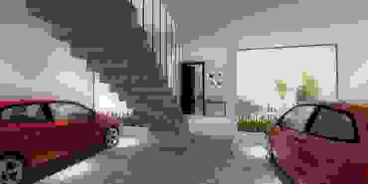 GARAJE Garajes minimalistas de WIGO SC Minimalista Concreto