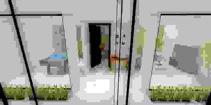 HALL Pasillos, vestíbulos y escaleras minimalistas de WIGO SC Minimalista Concreto