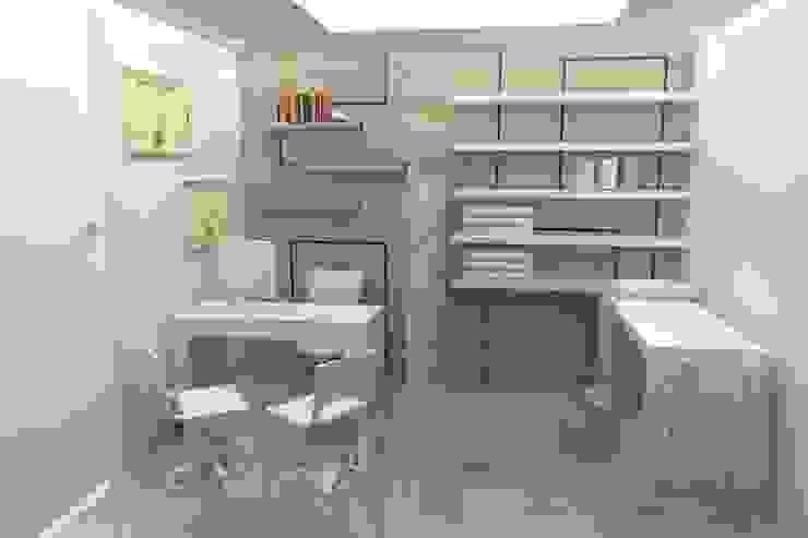 CONSULTORIO Estudios y despachos de estilo moderno de SIMETRIC ARQUITECTURA INTERIOR Moderno Madera Acabado en madera
