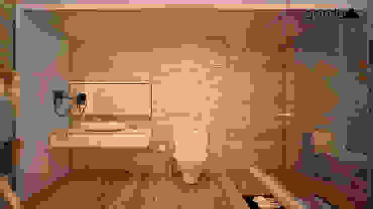 Baño moderno Baños minimalistas de GarDu Arquitectos Minimalista Piedra