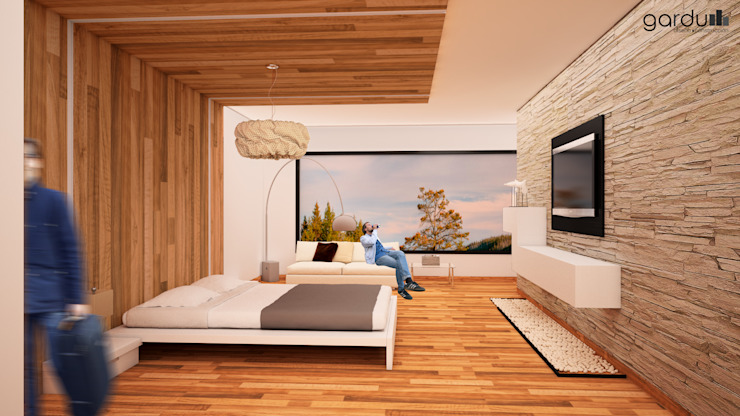 Bedroom by GarDu Arquitectos , Minimalist Wood Wood effect
