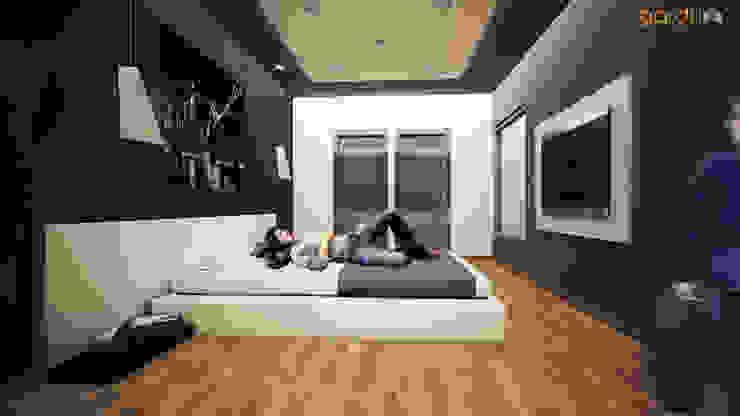 Recamara Moderna Cuartos de estilo minimalista de GarDu Arquitectos Minimalista Piedra