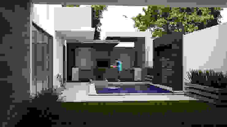 Alberca Moderna Albercas minimalistas de GarDu Arquitectos Minimalista Piedra