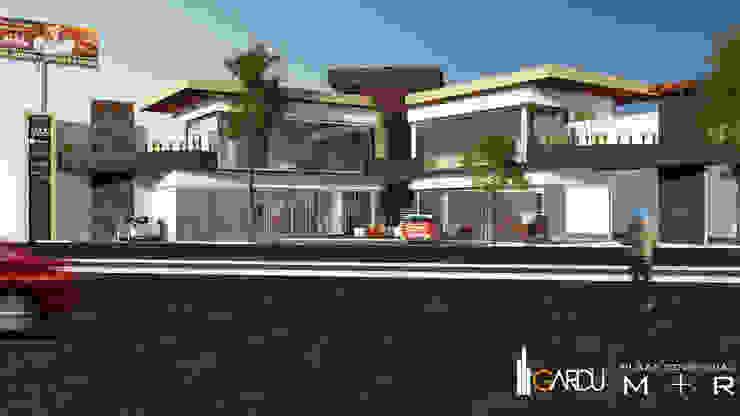 PLAZA COMERCIAL MODERNA Centros comerciales de estilo minimalista de GarDu Arquitectos Minimalista Piedra