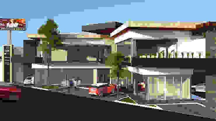 PLAZA COMERCIAL MINIMALISTA Centros comerciales de estilo minimalista de GarDu Arquitectos Minimalista Piedra