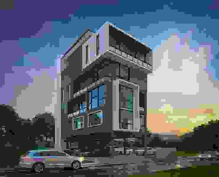 HOME OFFICE โดย Glam interior- architect co.,ltd โมเดิร์น คอนกรีต