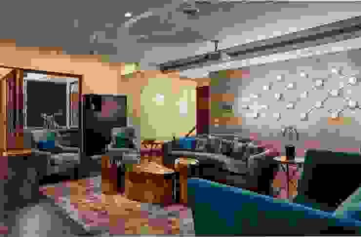 family room Modern media room by homify Modern