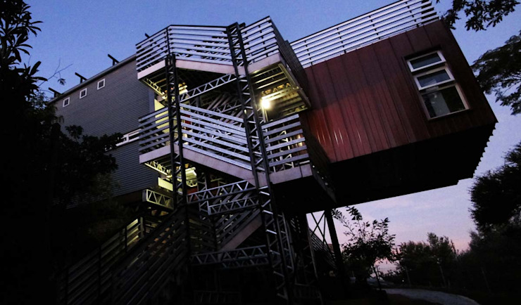 Container house Modern houses by A4AC Architects Modern Aluminium/Zinc