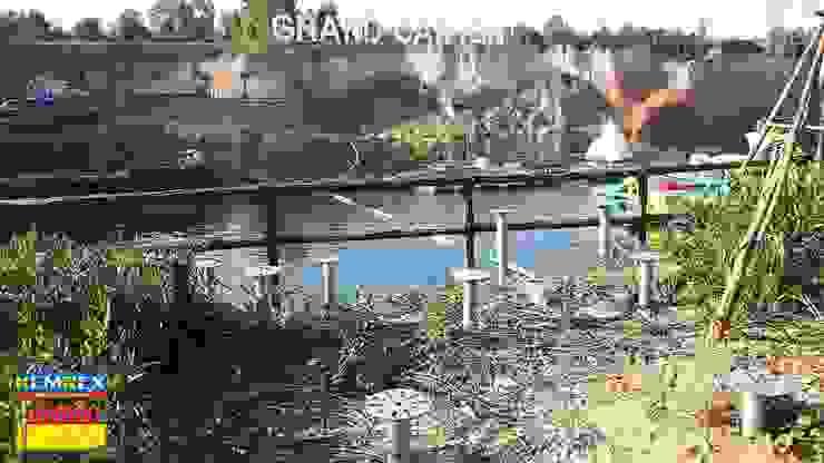 งานฐานรากแท่นกระโดดน้ำ ที่สวนน้ําแกรนแคนยอน จ.เชียงใหม่ โดย บริษัทเข็มเหล็ก จำกัด