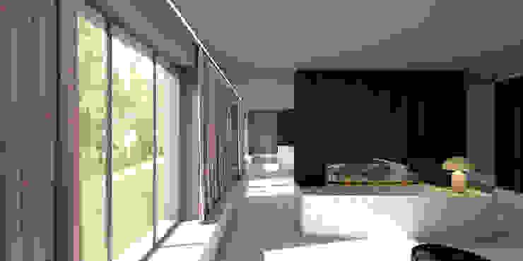 zitkamer Moderne woonkamers van De Nieuwe Context Modern Glas