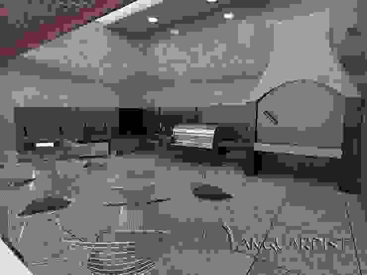 PROYECTO TERRAZA Y DISCOTECA LA PLANICIE – LIMA PERU Balcones y terrazas modernos de Vanguardist Design Studio Moderno