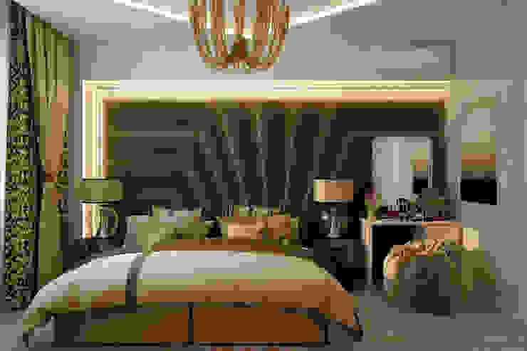 Дизайн спальни в стиле постмодерн в квартире по ул. Морская, г.Краснодар Спальня в стиле модерн от Студия интерьерного дизайна happy.design Модерн