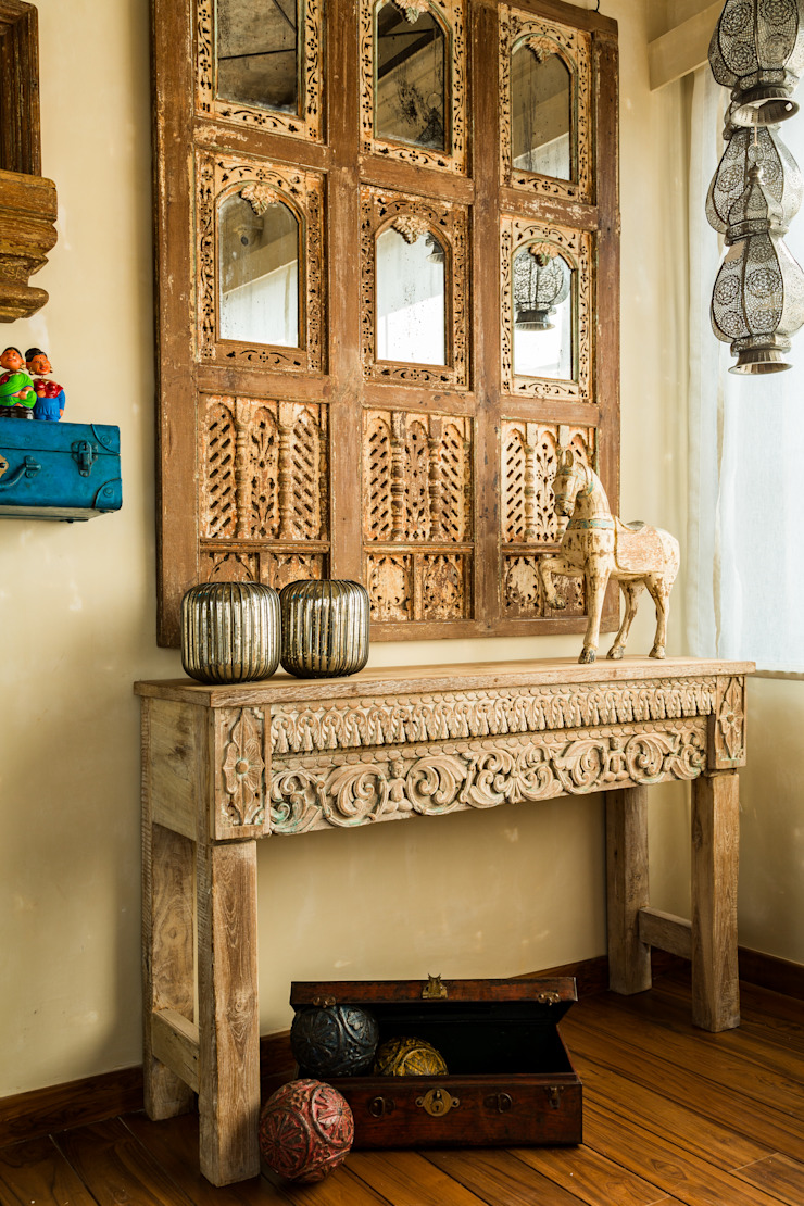 Rustic style bedroom by Turiya Lifestyle LLP Rustic Wood Wood effect