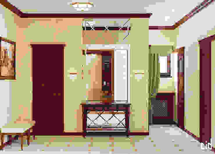 Center of interior design Classic corridor, hallway & stairs
