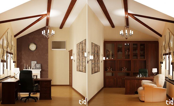 Center of interior design Classic style study/office