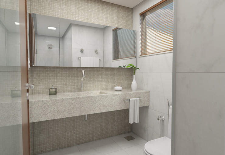 Filipe Castro Arquitetura | Design Minimalist bathroom Granite Beige