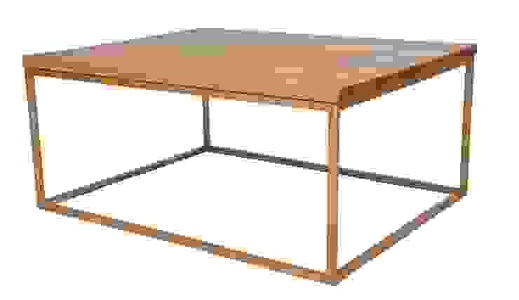 Metal and Oak Coffee Table van Andrew McQueen Minimalistisch Metaal