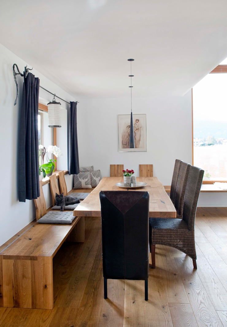 Eclectic style dining room by w. raum Architektur + Innenarchitektur Eclectic