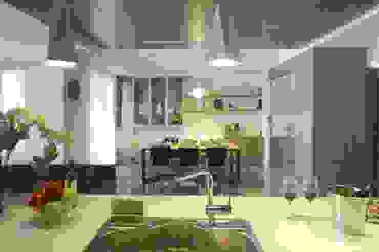 嘉義 科美建設別墅 現代廚房設計點子、靈感&圖片 根據 大也設計工程有限公司 Dal DesignGroup 現代風