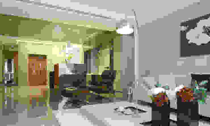 嘉義 科美建設別墅 现代客厅設計點子、靈感 & 圖片 根據 大也設計工程有限公司 Dal DesignGroup 現代風