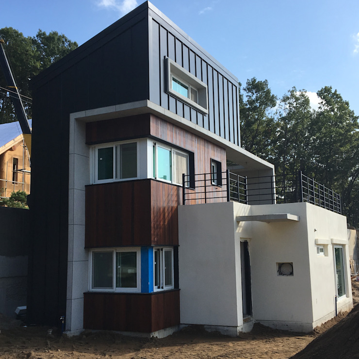 양촌리 단독주택: 건축사사무소 이레EL의 현대 ,모던