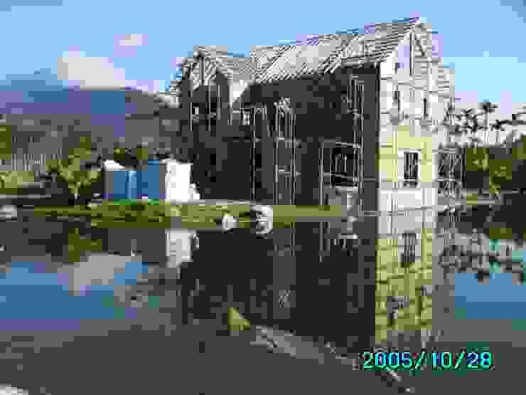 屋頂鋼架完成 根據 台灣環球住宅股份有限公司