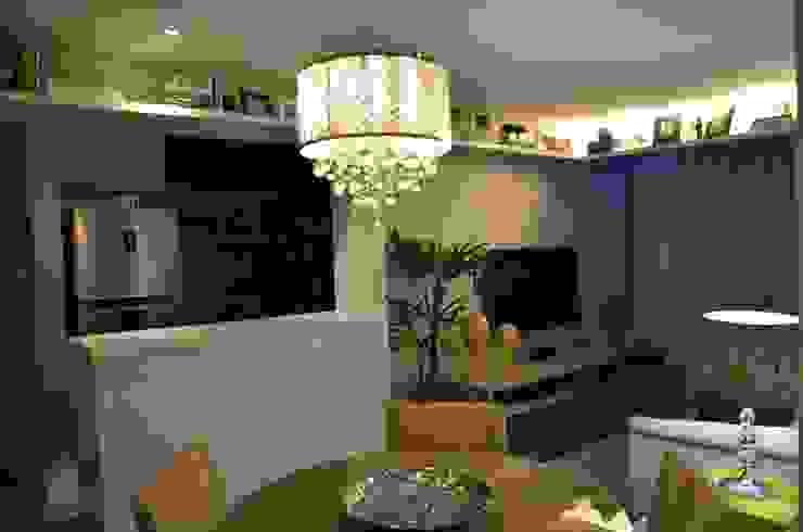 Sala de estar/ cozinha Salas de estar ecléticas por Alvaro Camiña Arquitetura e Urbanismo Eclético