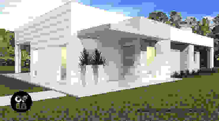 Moradia Santarém (100,00 m2) - Construção LSF ATELIER OPEN ® - Arquitetura e Engenharia Casas modernas