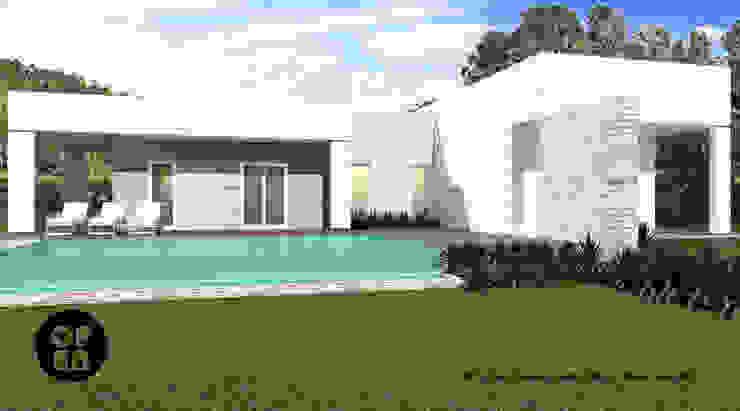ATELIER OPEN ® - Arquitetura e Engenharia モダンな庭
