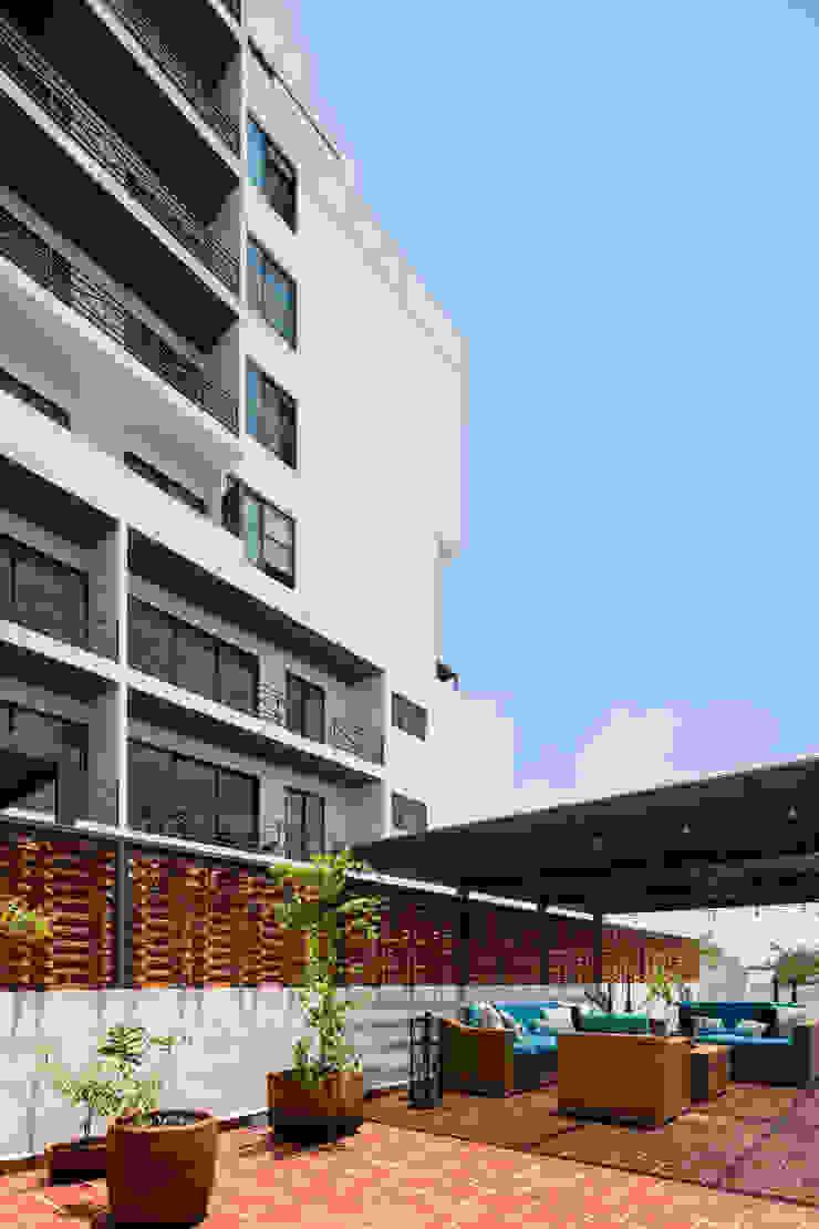 Trama Arquitectos Balcon, Veranda & Terrasse originaux