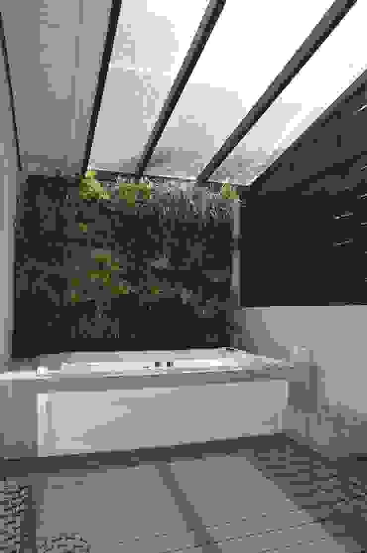 Casa 575. Terraza interna Jardines modernos: Ideas, imágenes y decoración de Arq Renny Molina Moderno