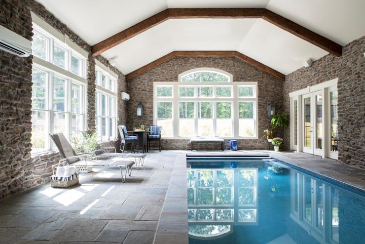 Riverside Retreat - Indoor Pool Classic style pool by Lorna Gross Interior Design Classic
