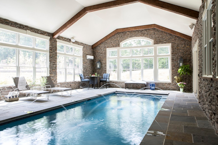 Riverside Retreat Classic style pool by Lorna Gross Interior Design Classic