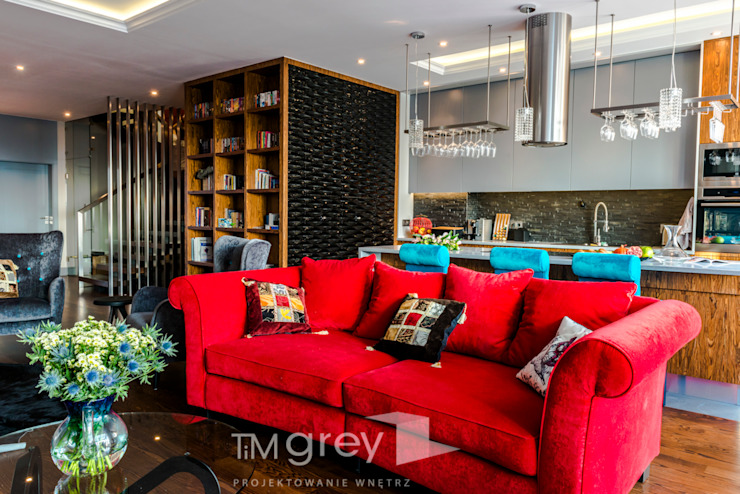 TiM Grey Interior Design Eclectic style living room