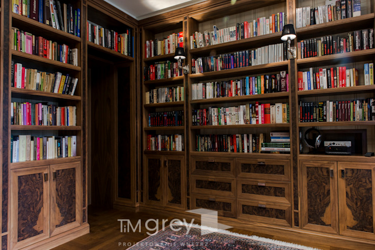 TiM Grey Interior Design Classic style study/office