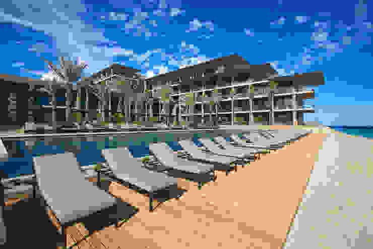 JW Marriott Los Cabos - IDEA Asociados Balcones y terrazas modernos de IDEA Asociados Moderno
